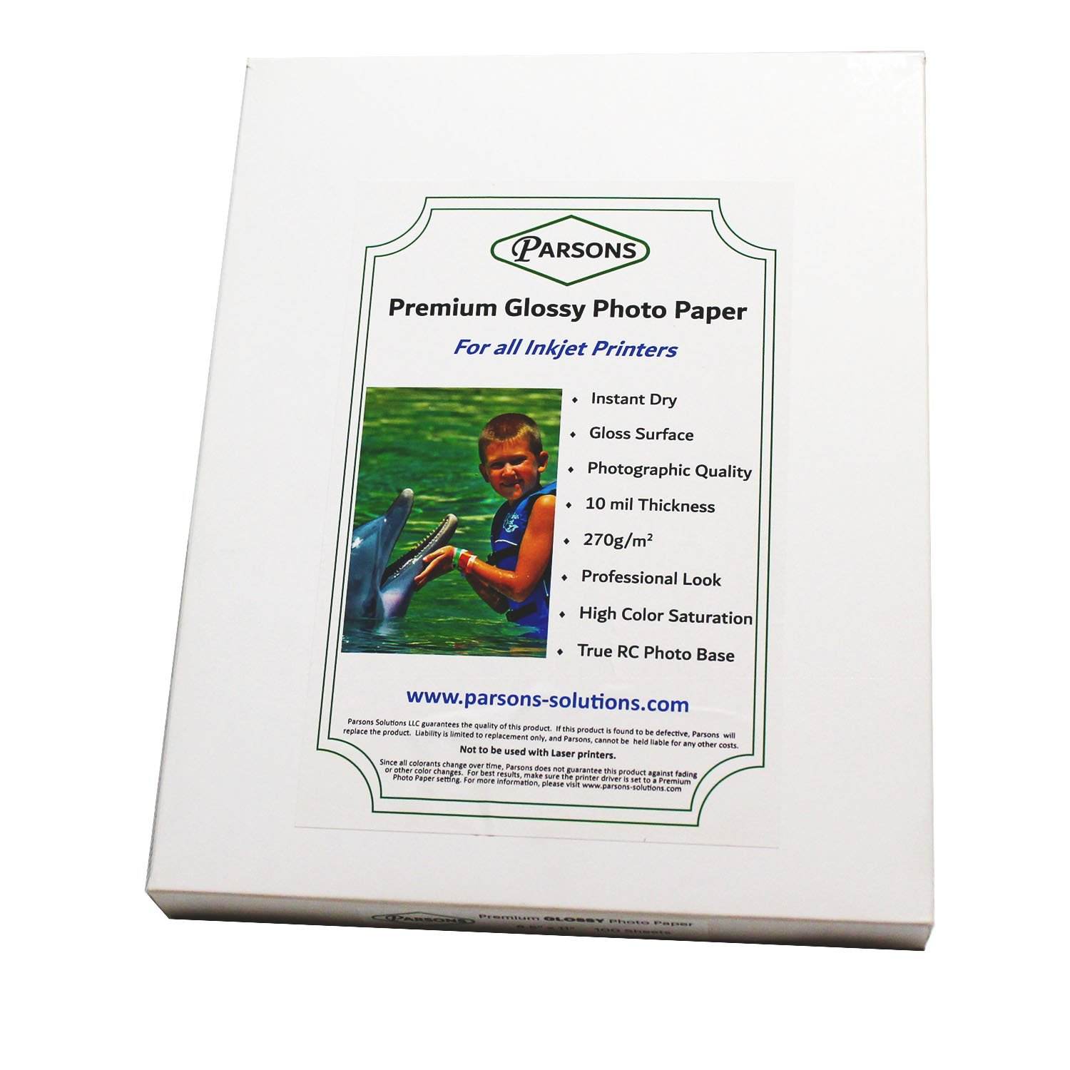 "Kirkland Signature 8.5/"" x 11/"" Professional Glossy Photo Paper"