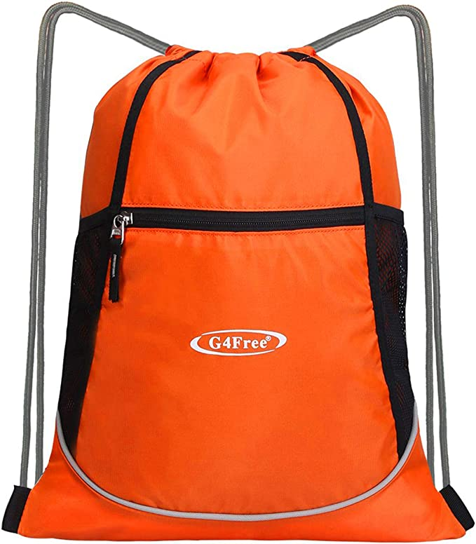 Drawstring Backpack Farm Animals Gym Bag