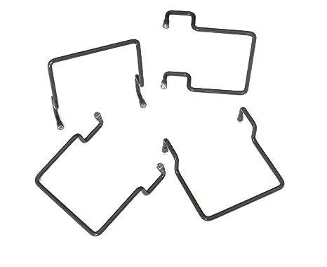 ACCESSOIRES-LITERIE Topes de colchón Lateral para Marco Metal 30 x 30 Gris (4