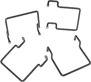 ACCESSOIRES-LITERIE Topes de colchón Lateral para Marco Metal 30 x 30 Gris (4 Pieces)