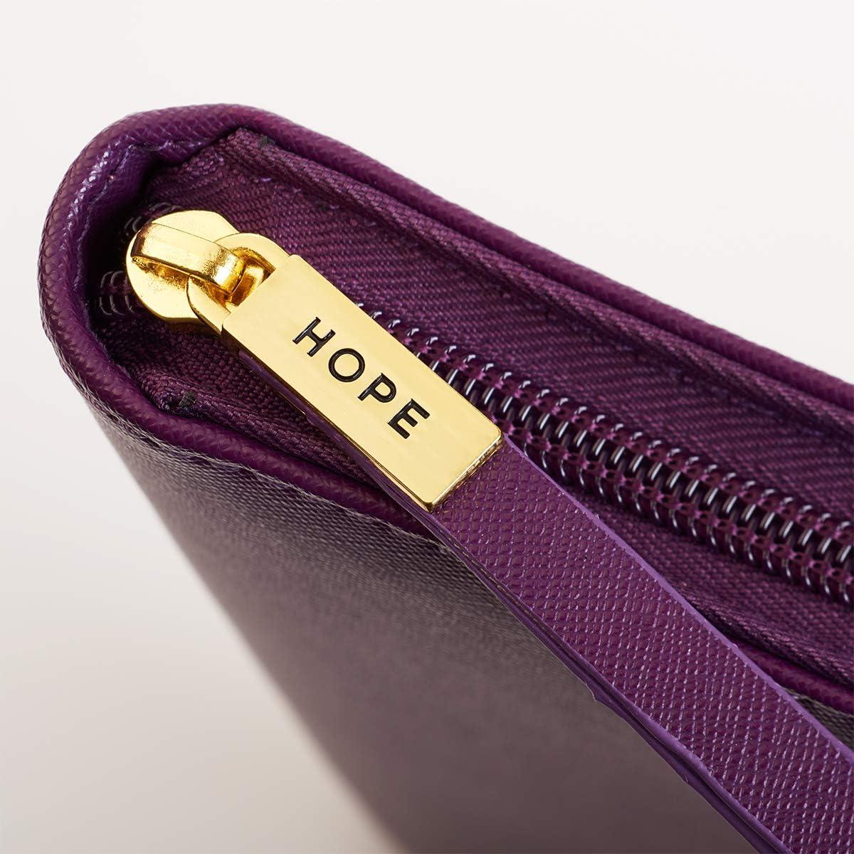 Purple Thinline Bible Cover Hope Medium