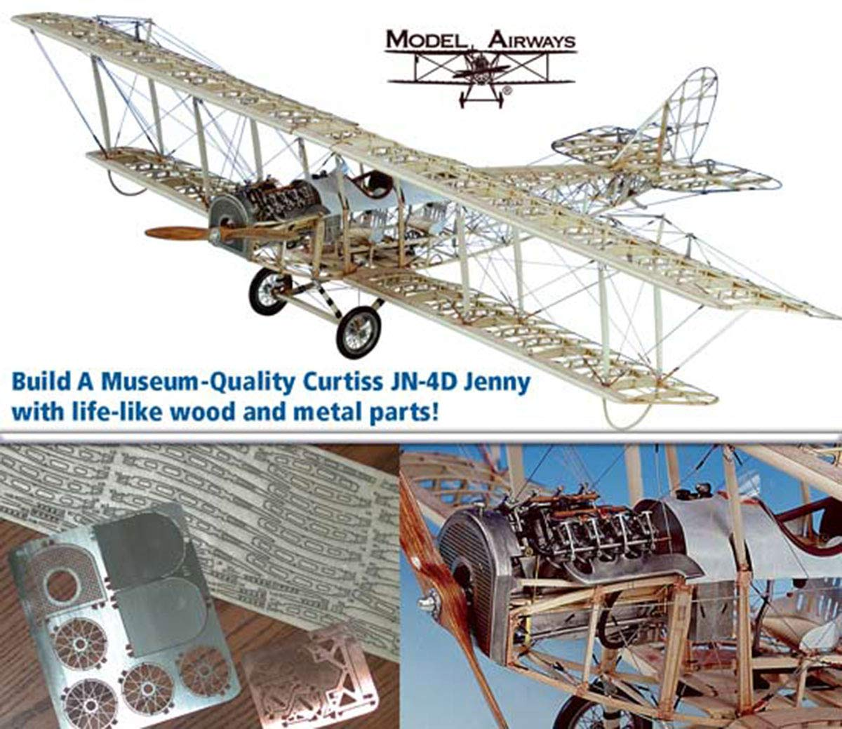 Paper Card Model Curtiss JN-4 Jenny by Answer