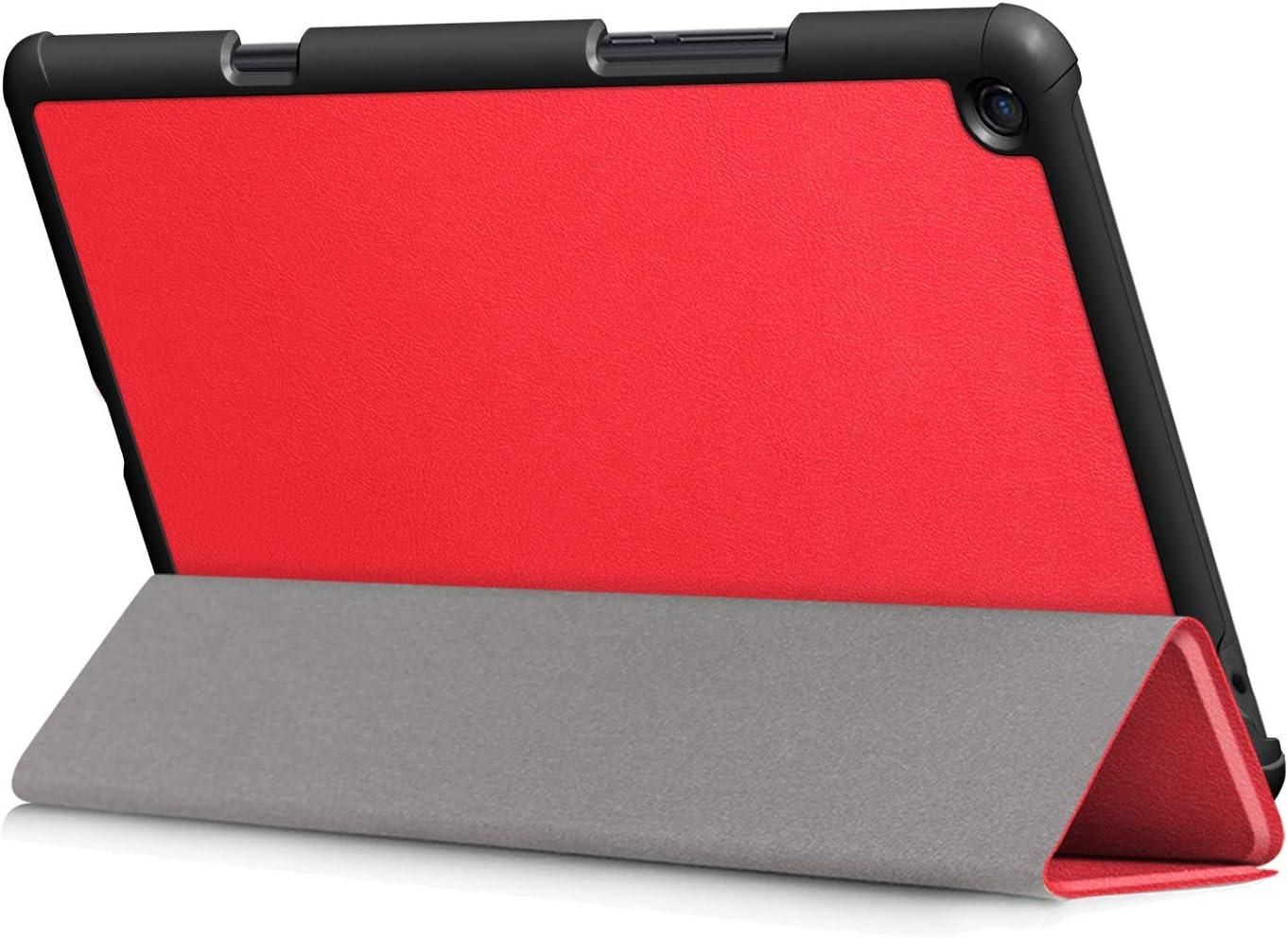 Kepuch Custer Funda para Xiaomi Mi Pad 4 Plus 10.1,Slim Smart Cover Fundas Carcasa Case Protectora de PU-Cuero para Xiaomi Mi Pad 4 Plus 10.1 - Rojo