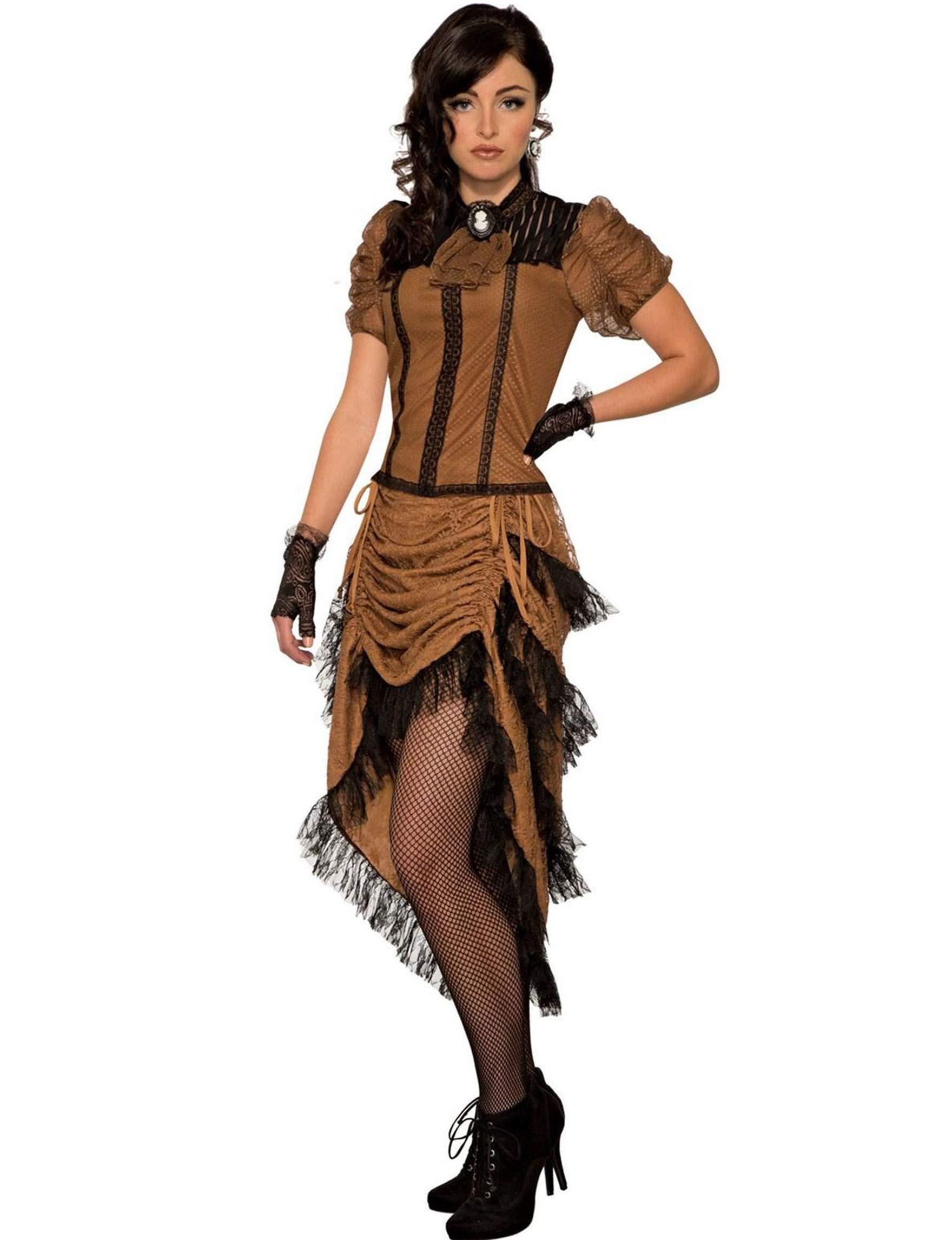 Forum Novelties The Last Dance Saloon Girl Costume, Brown
