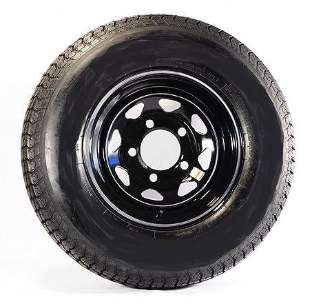 Lote de 2 ruedas de remolque ST205/75d14 carga C para llantas de aluminio poste