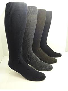 Mens Merino Wool Knee-High Cushion Sole Socks (2 Pairs)