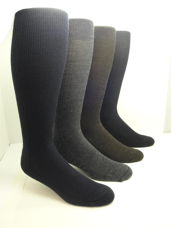 36ce17a73cc Men s Merino Wool Knee-High Cushion Sole Socks (2 Pairs) at Amazon Men s  Clothing store