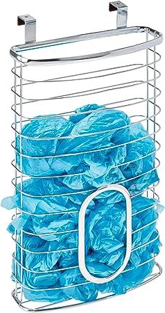 Interdesign Axis Panier A Suspendre Pour Sacs Plastique Rangement De Porte En Metal Argente Amazon Fr Cuisine Maison