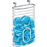 InterDesign Axis Over The Cabinet Kitchen Storage Holder for Plastic and Garbage Bags - Chrome