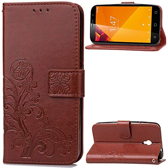 JARNING Vodafone Smart Turbo 7/VFD500 Case Leather Wallet Flip Cover with Card Slots Magnetic