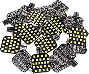 Super Bright T10 921 912 168 194 LED Bulbs 12V RV Interior Lights for Trailer, Trunk, Camper, Boat, Motorhome Ceiling Dome Light, Pack of 20, Natural White 3500K Color Temperature
