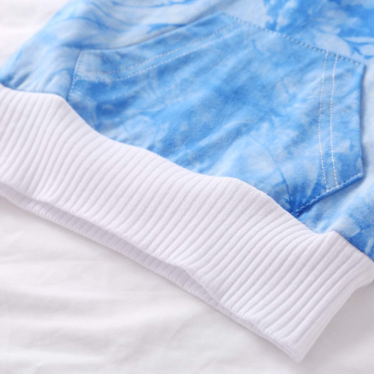 Diadema Multicolores para Ni/ña 0-24 Meses Pantalones Largos Conjuntos para Ni/ña Invierno Bodies Manga Larga Tie-Dye