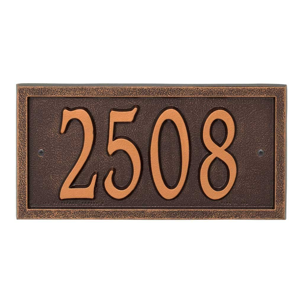 Comfort House Metal Address Plaque House Number Sign # P2836 - Color choices black gold, green, antique brass, red, silver, white, antique copper, bronze, oil rubbed bronze, pewter