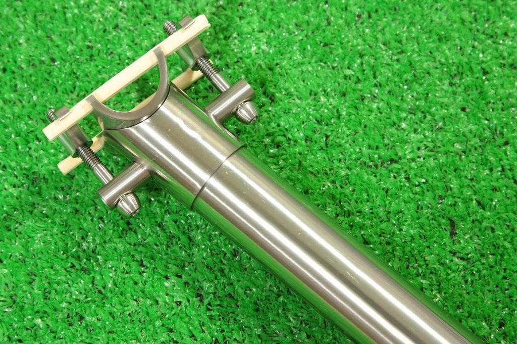 マイクロヒーロー MicrOHERO フルチタン 合金 軽量190g シートポスト 27.2/400mm 自転車パーツ B00G59X0VG