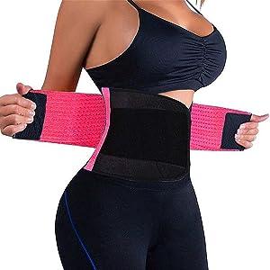 Waist Trainer Women - Waist Cincher Trimmer - Slimming Body Shaper Belt - Sport Girdle Belt