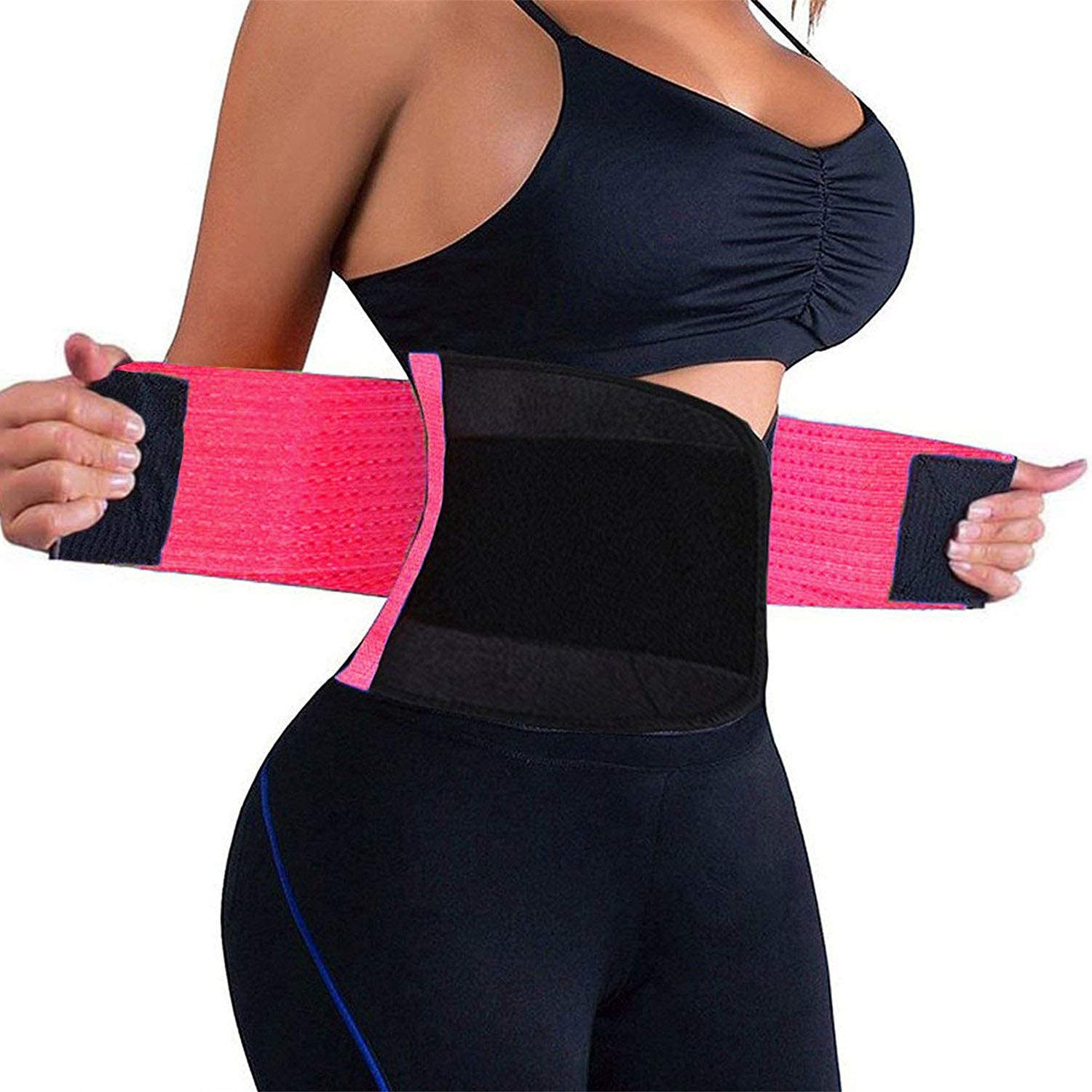 QEESMEI Waist Trainer Belt for Women Man – Waist Cincher Trimmer Weight Loss Ab Belt – Slimming Body Shaper Belt