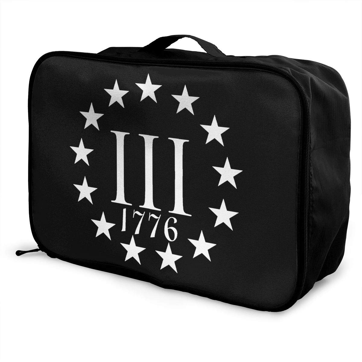 Three Percenter 1776 Travel Bag Men Women 3D Print Pattern Gift Portable Waterproof Oxford Cloth Bags