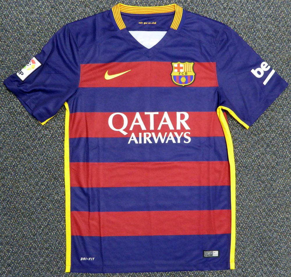 9e3ea617489 Neymar Jr. Autographed Barcelona Qatar Airways Nike Authentic Jersey Size S  PSA DNA at Amazon s Sports Collectibles Store