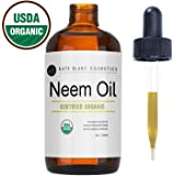 Neem Oil (4oz) by Kate Blanc. USDA Certified Organic, Virgin, Cold Pressed, 100% Pure. Great for Hair, Skin, Nails. Natural Anti Aging Moisturizer, Antiseptic, Insecticide, Fungicide. 1-Year Guarantee