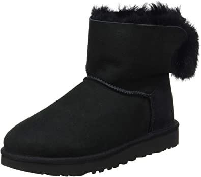 UGG Womens Mini Puff Crystal Bow Boot