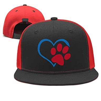 b6f7b49b895 Unisex Animal Lover Cat Dog Paw Prints Heart USA Flag Dad Baseball ...