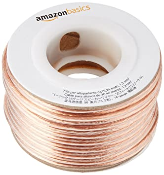 Amazon amazonbasics 16 gauge speaker wire 50 feet home amazonbasics 16 gauge speaker wire 50 feet greentooth