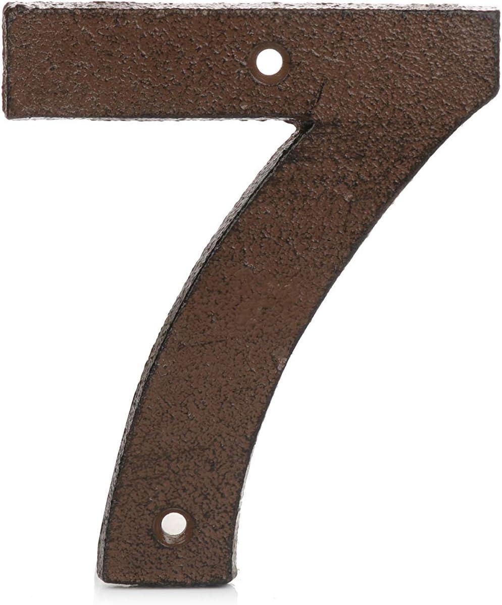 T/ürnummern 0-9 aus Gusseisen Vintage-Stil rostbraun verwittertes Finish f/ür einen authentischen rustikalen Look