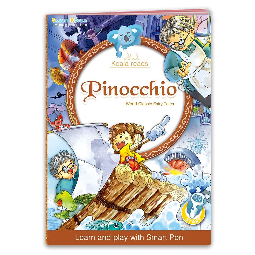 Talking Pen + 3 Fairy Tales Bundle (Pinocchio, Cinderella, Red Hood). The most Entertaining Books for learning Reading and Spelling Skills. English and foreign Languages (Spanish, German for free) by Smart Koala (Image #4)