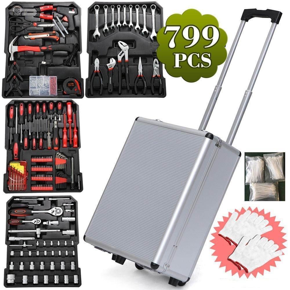 Yaheetech Fabulous 599pcs Mechanic Kit Box Case Toolbox Trolley