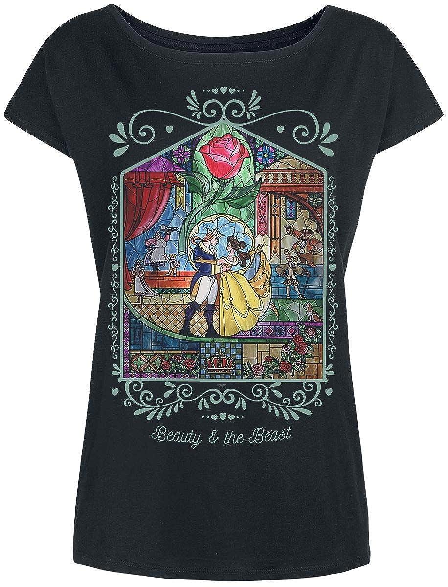 La Bella y La Bestia Rose Camiseta Negro