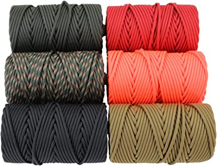 GOLBERG Type IV 750 LB Paracord 100/% Nylon Made in USA Several Colors and Lengths