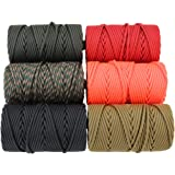 Paracord Type IV - SGT KNOTS - 13/64 in (5mm) - 11 Strand - 100% Nylon Core and Shell 750 lb Tensile Strength Utility Cord for Crafting, Bracelets, Tie-downs, Camping, Handle Wraps and Survival
