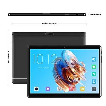 Tablet 10.1 Pulgadas, Android 7.0 Tablet PC con Ranura para Tarjeta SIM Dual, 3G, gsm, Quad Core, 2 GB de RAM + 32 GB ROM, cámara Dual incorporada, ...