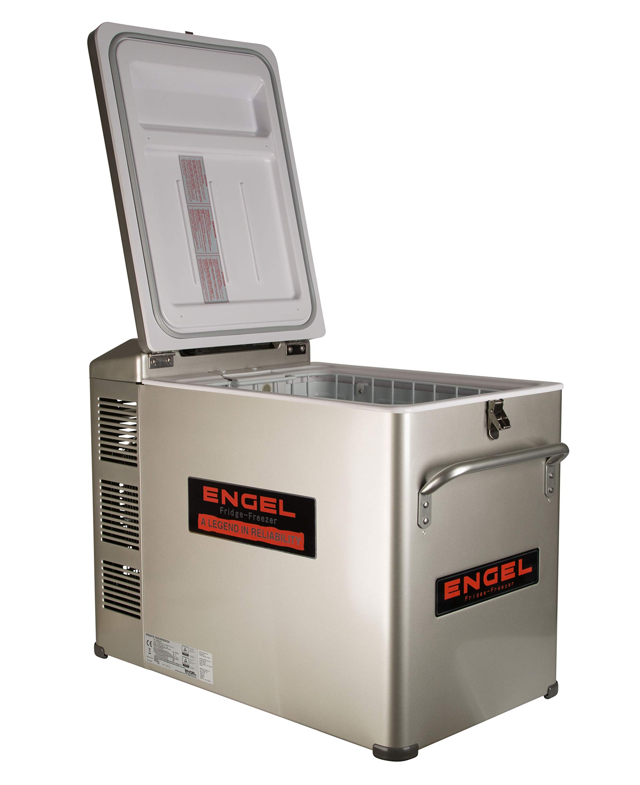 New Engel MT45 Platinum 12v/110v Fridge Freezer 2 Supplied with both AC and DC cords. Built-in battery monitor. 50th Anniversary Edition of the Engel MT45.