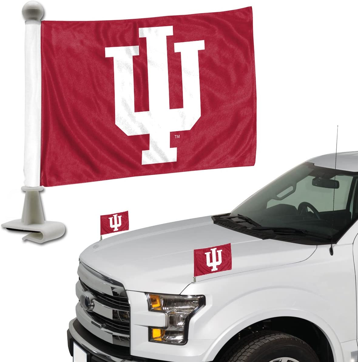 Promark NCAA Indiana Hoosiers Flag Set 2-Piece Ambassador Style Team Color One Size