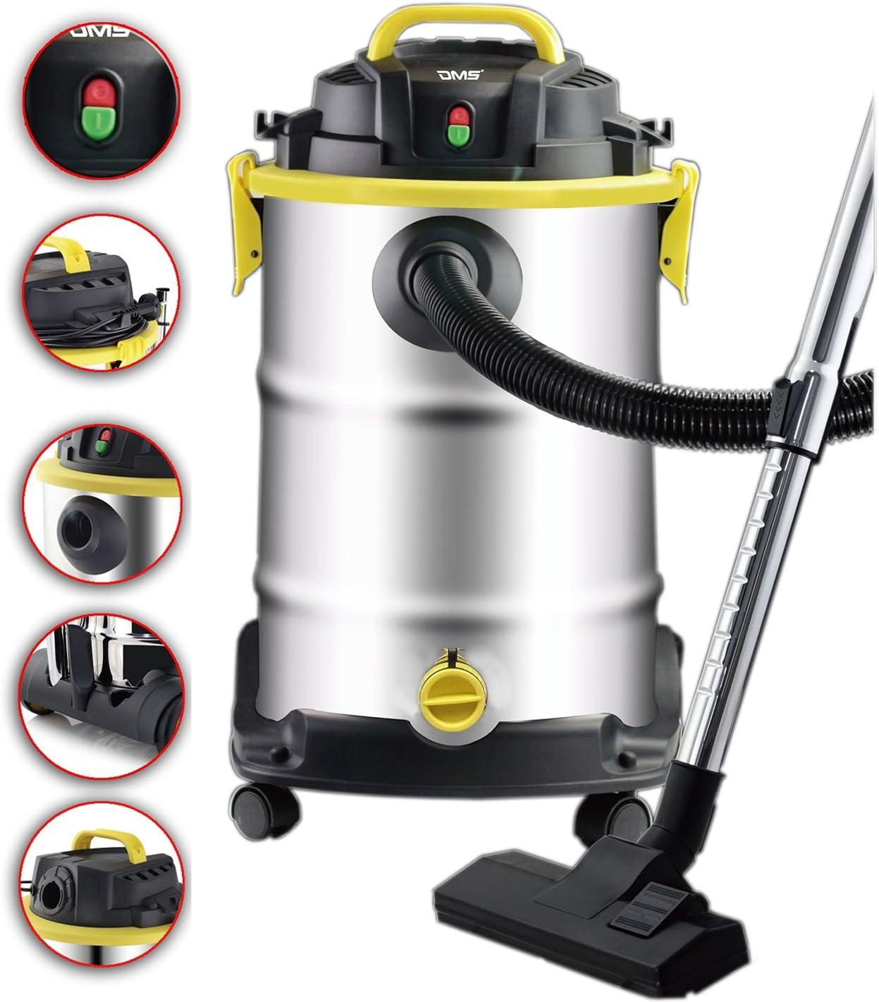 DMS® NTS 20 Aspiradora Aspiradora en seco húmedo aspirador industrial multiusos 20 litros Max. 1800 W con 3 M manguera: Amazon.es: Hogar