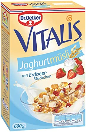 Dr. Oetker Vitalis yogur cereales, 6 unidades (6 x 600 ...