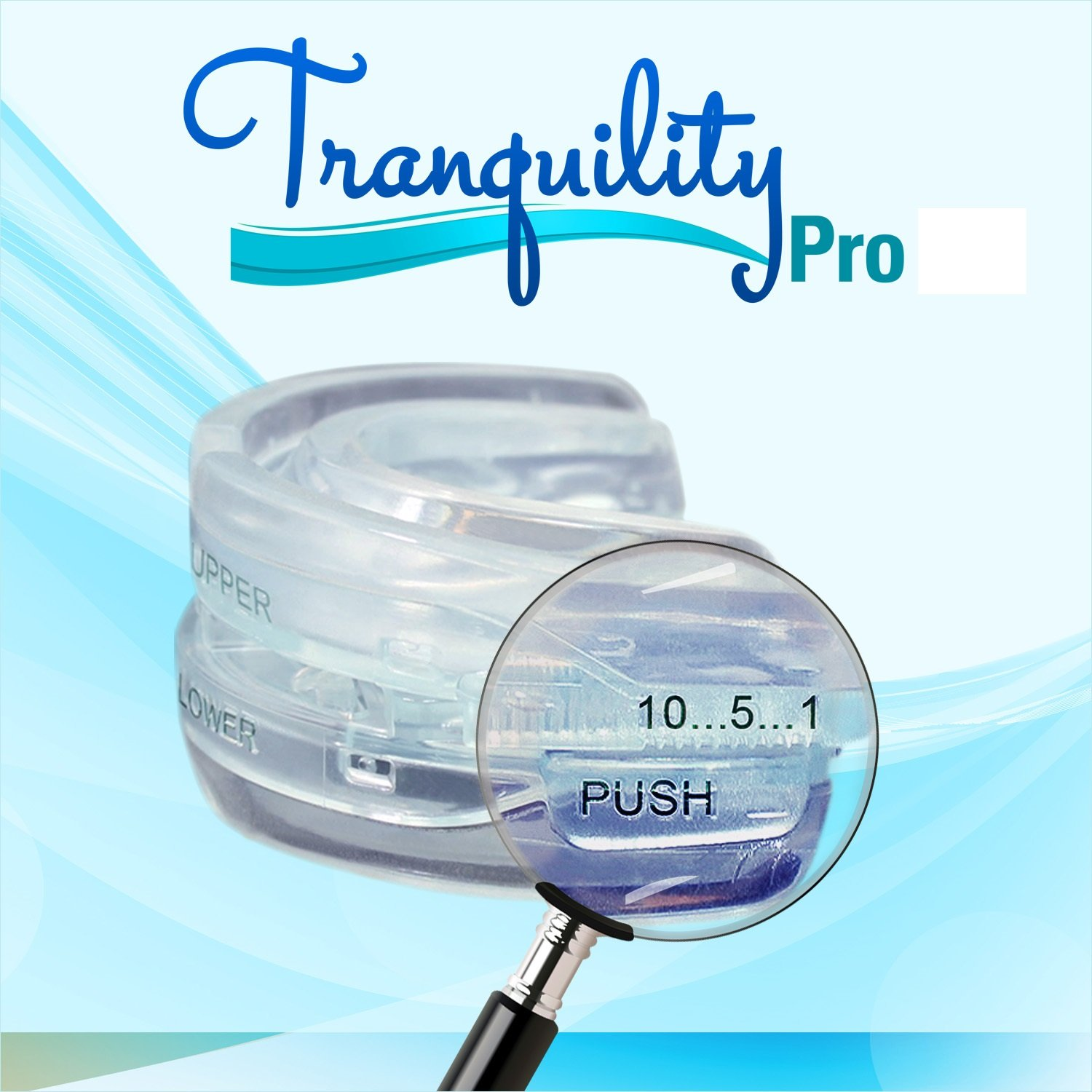 Tranquility Pro 2 Adjustable Bruxism Night Mouthpiece Sleep Mouthguard Mouth Guard Aid