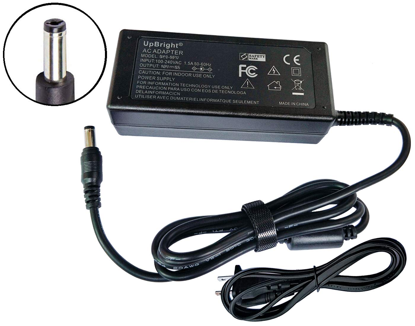 UpBright 24V AC/DC Adapter Replacement for Epson Workforce WF-100 GT-S80 GTS-50 GT 1500 2500 GT-F520 GT-F570 J143A GT-550 DS-760 DS-860 Perfection V550 1660 3490 Scanner A221B A441H A471H A472E PSU