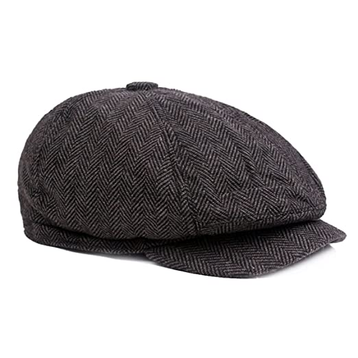 f6f30a38 ZLSLZ Mens Striped 8 Panel Ivy Newsboy Cabbie Gatsby Beret Painter Hats Caps  for Men Black at Amazon Men's Clothing store: