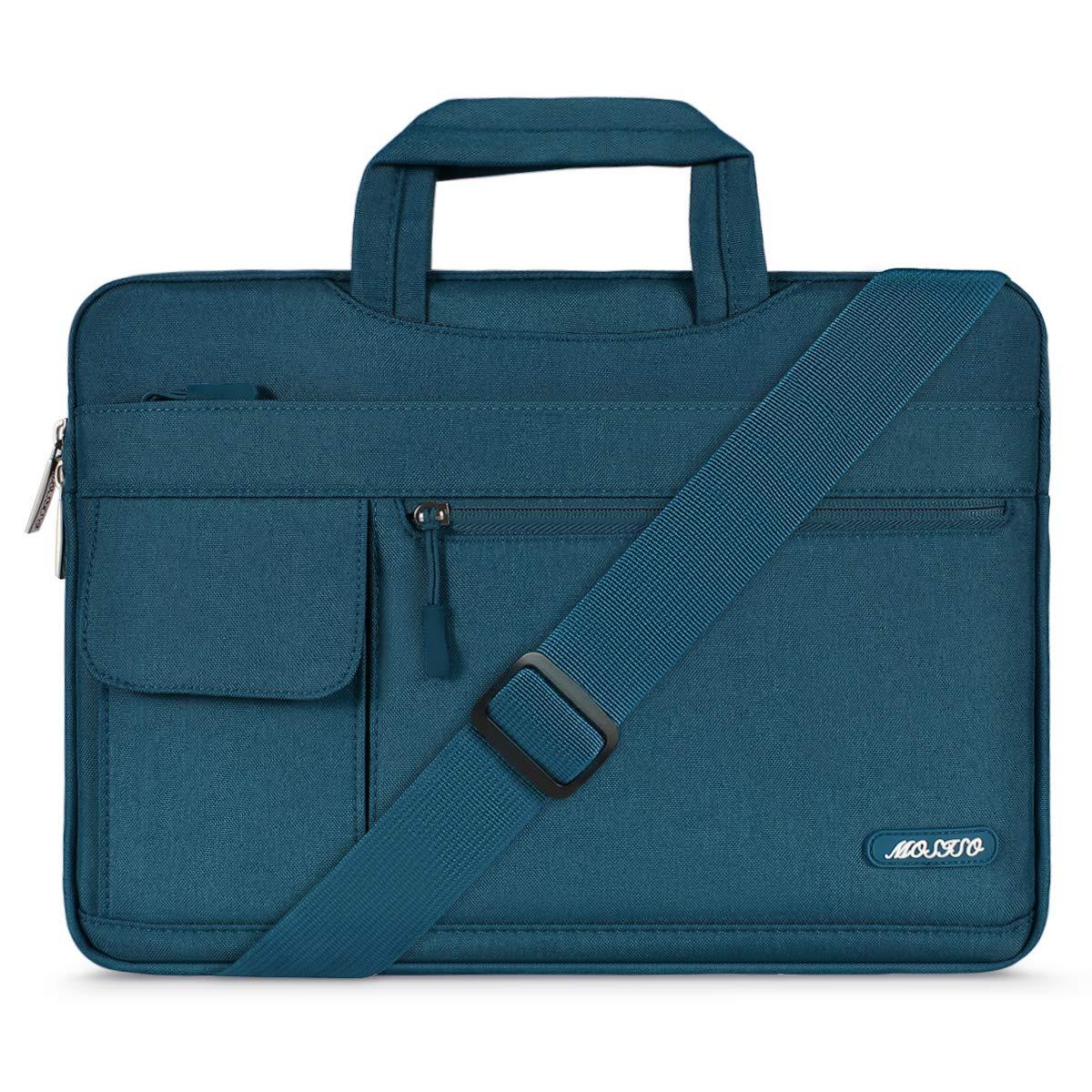 MOSISO Funda Protectora Compatible con 2019 MacBook Pro 16 A2141/15-15.6 Mac Pro Retina/Surface Lenovo HP Acer ASUS de Portátil, Bolsa de Hombro Blanda Maletín Bandolera de Estilo Flap,T