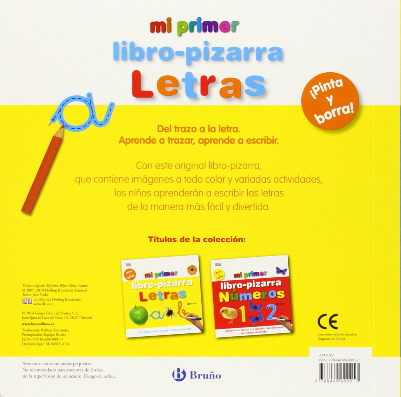 Amazon.com: Mi primer libro-pizarra Letras / My first ...