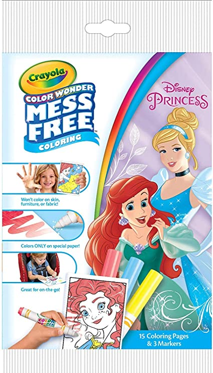 - Amazon.com: Crayola Color Wonder Disney Princess Coloring Pages, Mess-Free  Coloring, For Kids, Age 3 4 5 6: Arts, Crafts & Sewing