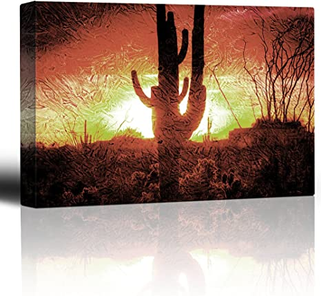 Silhoutte of Horses and A Couple Holding Hands 12x18 inches Canvas