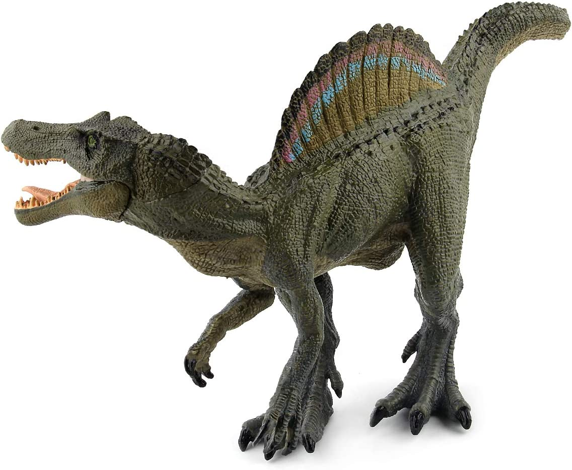 """HiPlay 11.4"""" Spinosaurus Dinosaur Toy Figure-Realistic Design with Amazing Detail Hand-Painted Big Size Dinosaur Model HP-D016"""