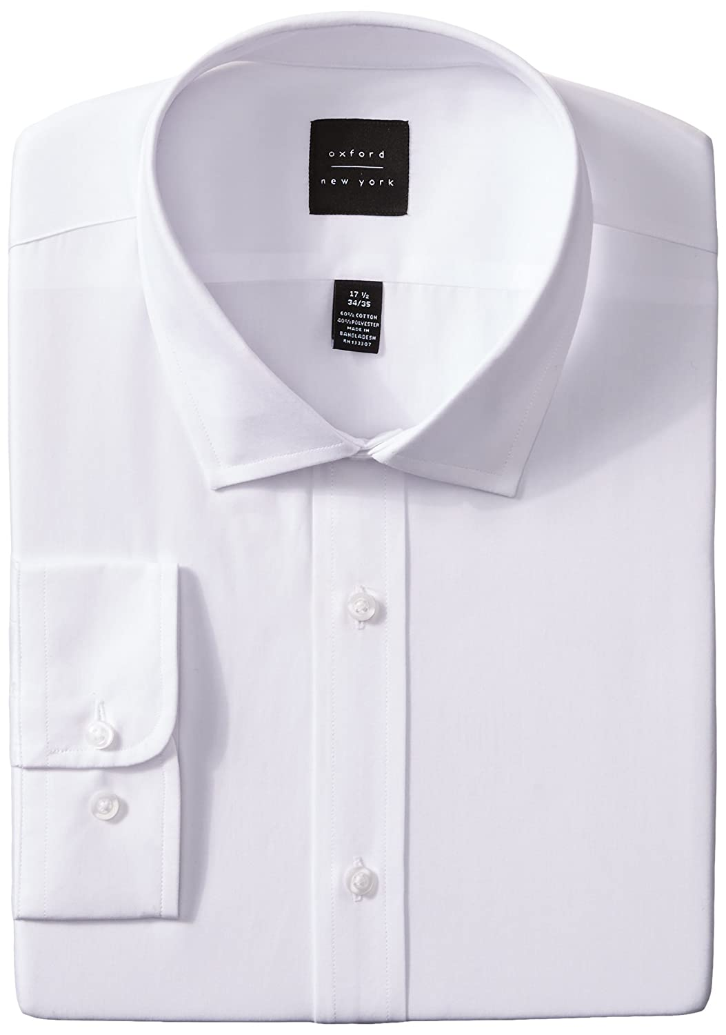 Oxford Ny Mens Solid Spread Collar At Amazon Mens Clothing Store