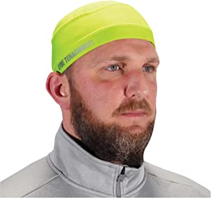Ergodyne Chill Its 6632 Cooling Skull Cap, Sweat Wicking Helmet Liner, UPF 50 Sun Protection