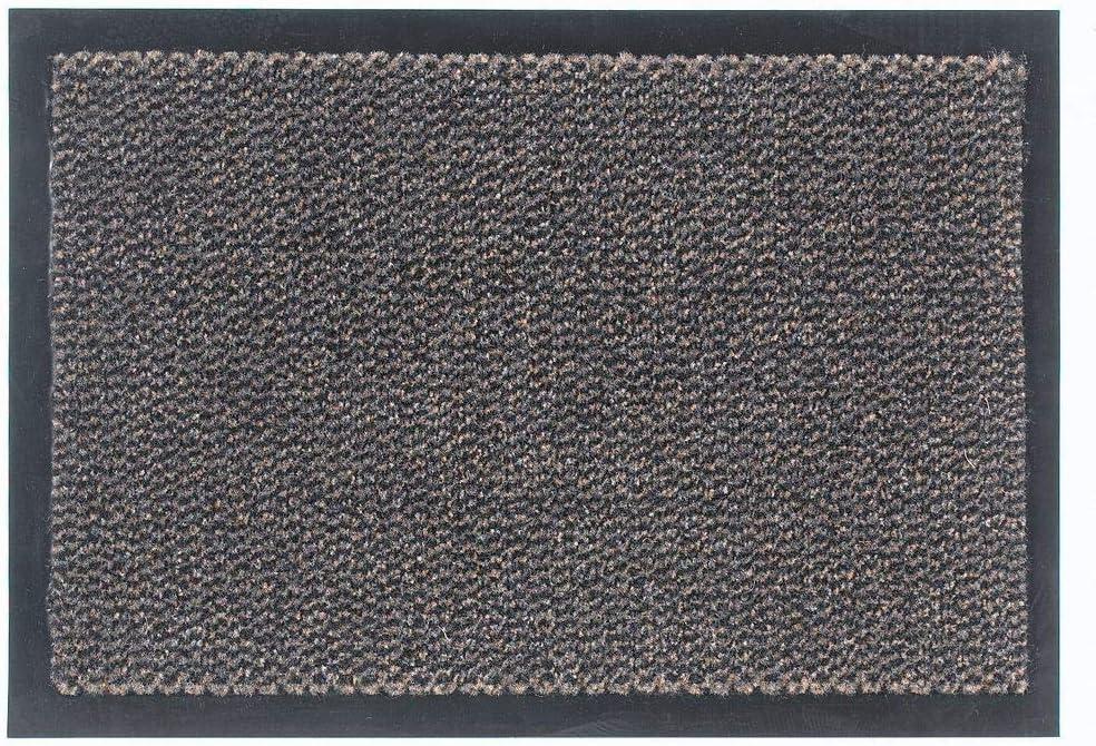 Saphir Paillasson 100 /% polypropyl/ène Anti-poussi/ère et antid/érapant Marron 40 x 60 cm