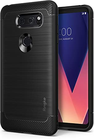 Ringke Funda LG V30 / LG V30 Plus/LG V30S ThinQ, [Onyx] [Gran Resistencia] Protectora de TPU Duradera, Antideslizante y Flexible para LG V 30 – Black/Negro: Amazon.es: Electrónica