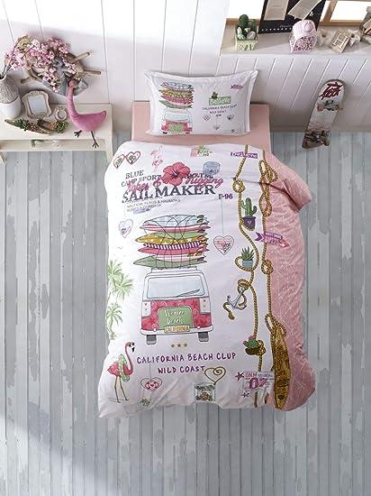 Kinder Bettwäsche 135 X 200 Cm Freedom 100 Baumwolle Mit Reißverschluss